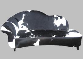 Koeienhuid sofa  Verona zwart wit.