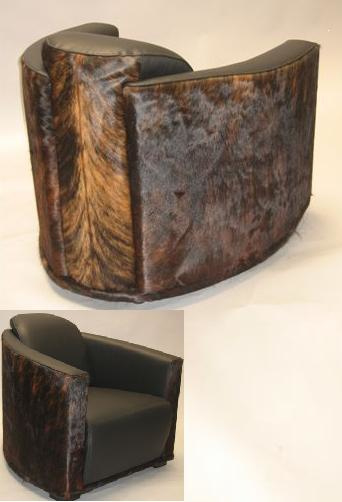 Koeienhuid fauteuil Horse Shoe