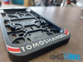 Sticker kentekenplaathouder Tomoshandel hoog model classic