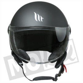 Helm MT street solid mat zwart