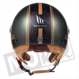 Helm MT street solid mat groen/bruin