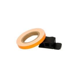 Velglint / velg sticker met applicator 7mm 6m lang oranje