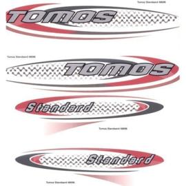 Stickerset Tomos standaard rood / grijs