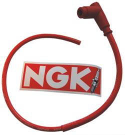 Bougiedop met kabel CR4 rood
