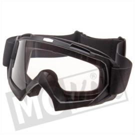 Crossbril voor cross helm MKX zwart