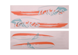 Stickerset Tomos standaard oranje / groen