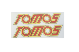 Stickerset Tomos 4L geel/rood