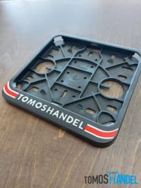 Sticker kentekenplaathouder Tomoshandel breed model classic