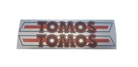 Stickerset Tomos 4L rood/zilver