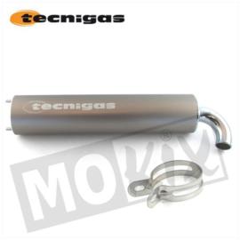 Uitlaat demper Tecnigas Next-R zilver / titanium 2 gaats