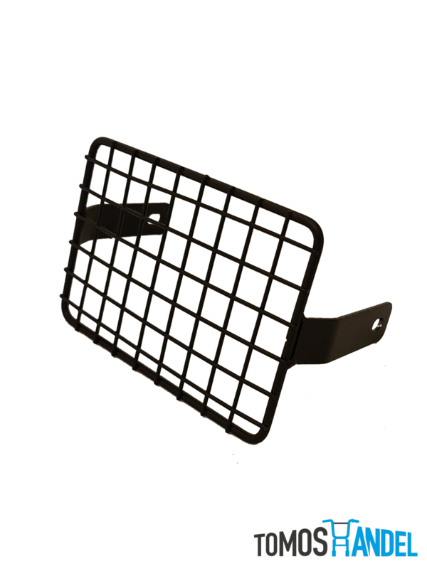 Koplamprooster vierkant zwart