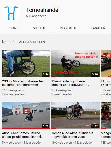 Volg Tomoshandel op Youtube!
