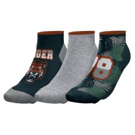 """Twinday  kinder sneakersokken """"tijger"""" - 3-pack"""