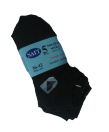 NAFT sneakersokken -  zwart - 5-pack