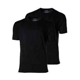 CECEBA American T-shirt - Basic - ronde hals - zwart