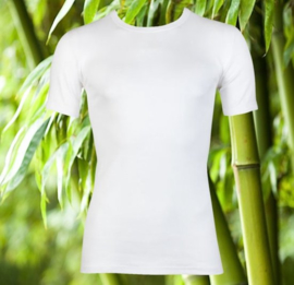Boru Bamboo T-shirt ronde hals - wit - 3-pack