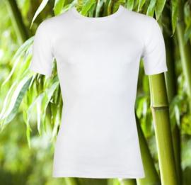 Boru Bamboo T-shirt ronde hals - wit
