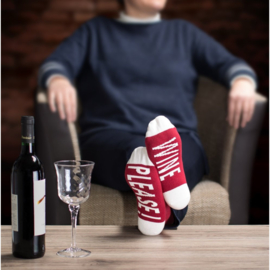 "Clark Crown® damessokken ""WINE PLEASE"" in een geschenksok"