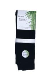 Boru Bamboo sokken - zwart - 2-pack