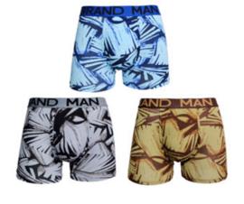 Grand Man boxershort - 3-pack - Abstract