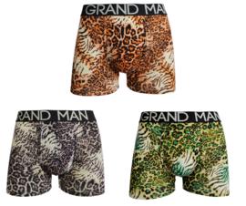 Grand Man boxershort - 3-pack - Panter