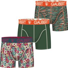 GAUBERT boxershort - 3-pack - Bloemig groen