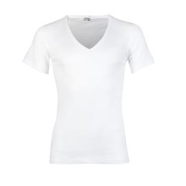 Beeren heren T-shirt diepe V-hals - wit