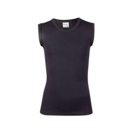 Beeren jongens shirt mouwloos ronde hals - zwart - 3-pack