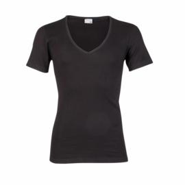 Beeren heren T-shirt diepe V-hals - zwart
