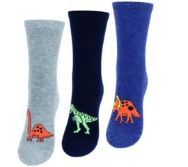Kindersokken -  dinosaurus - 3-pack