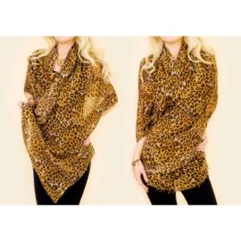 Dames sjaal - luipaard - 90 x 180 cm