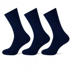Teckel damessokken - marineblauw - 3-pack