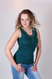 Toker dameshemd kant - groen - 2-pack