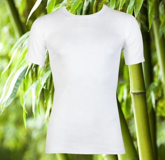 Boru Bamboo T-shirt ronde hals - wit - 3-pack