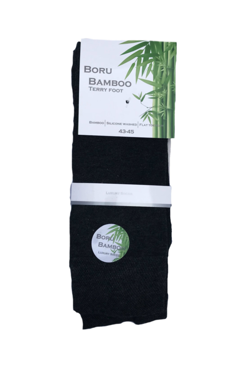 Boru Bamboo sokken - antraciet - 2-pack