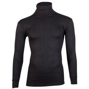 Beeren thermo unisex colshirt met lange mouwen - zwart
