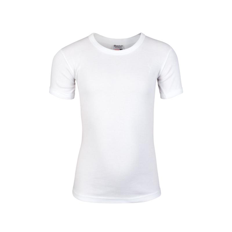 Beeren jongens T-shirt ronde hals - wit - 3-pack
