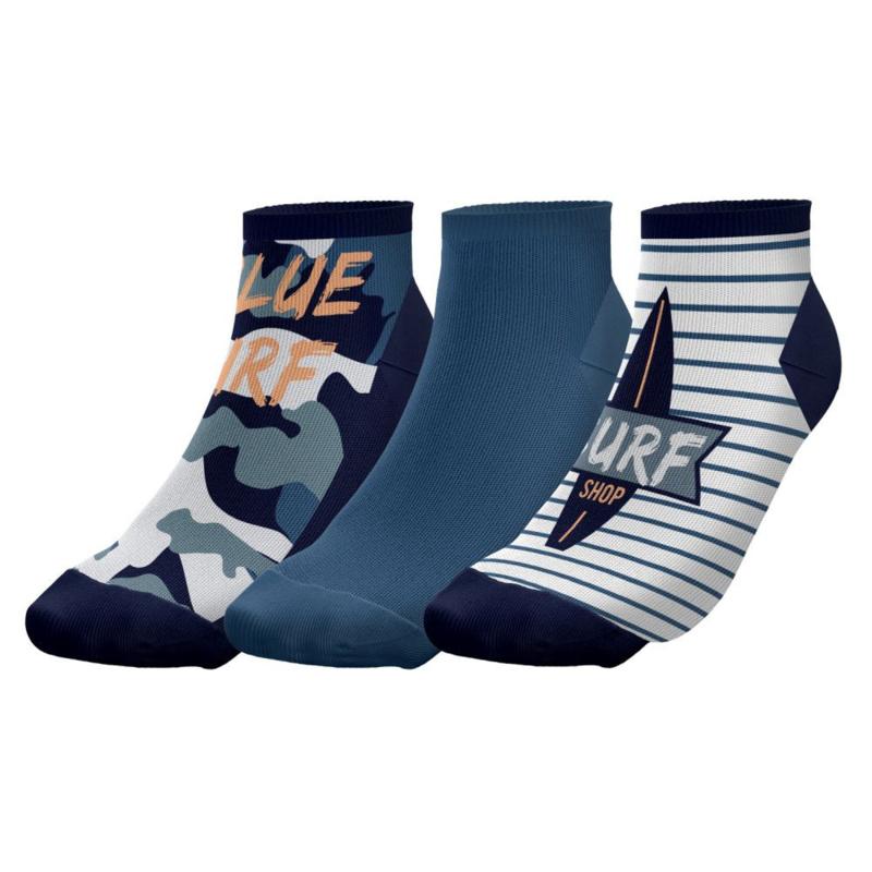 """Twinday  kinder sneakersokken """"surf"""" - 3-pack"""