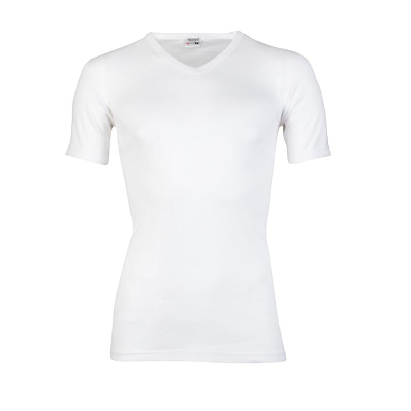 Beeren heren T-shirt V-hals - wit
