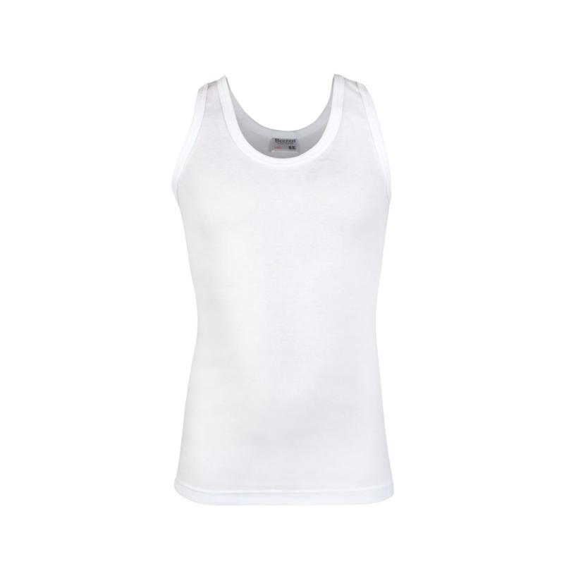 Beeren jongens singlet/ hemd ronde hals - wit - 3-pack
