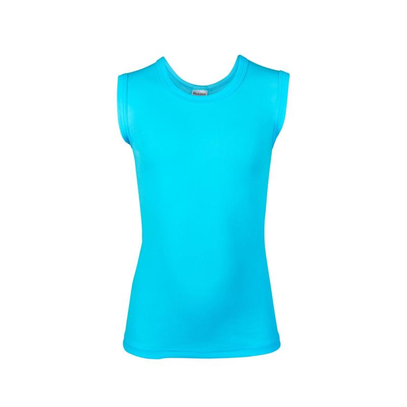 Beeren jongens shirt mouwloos ronde hals - Davy - aqua- 3-pack