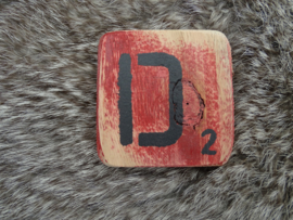 Houten Letter D 6x6cm