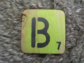 Houten Letter B 6x6cm