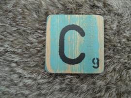 Houten Letter C 6x6cm