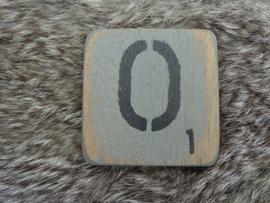 Houten Letter  O 6x6cm