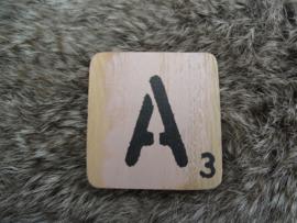 Houten Letter A 6x6cm