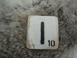 Houten Letter I 6x6cm