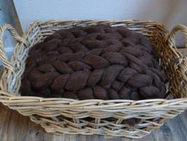Wollen Woon plaid Chocolade bruin