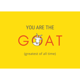 Dubbele kaart - You are the goat
