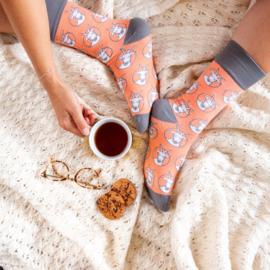 Grappige sokken met afbeelding van Gerrit de geit